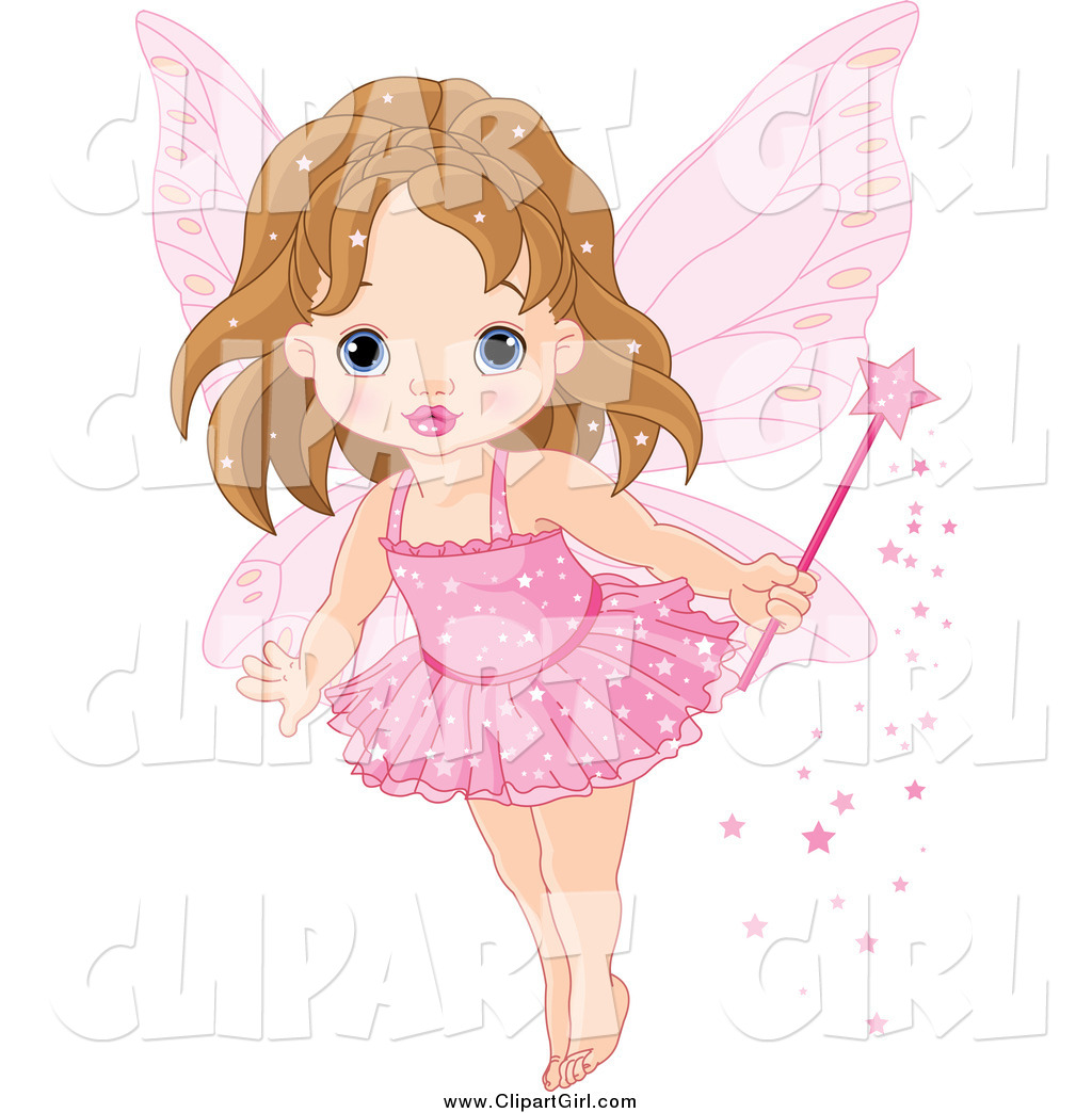 Fairy pink. Clip art of a
