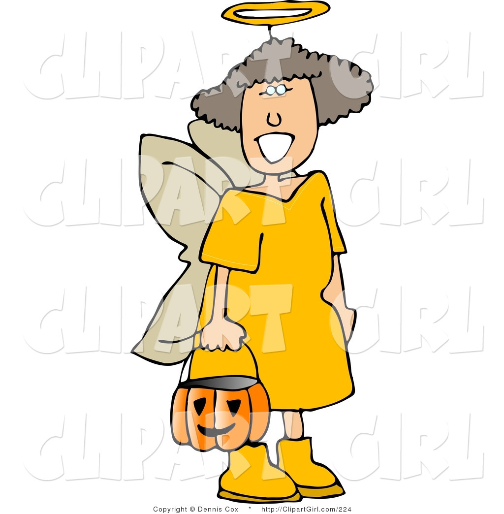 Royalty Free Stock Girl Designs of Candy Buckets