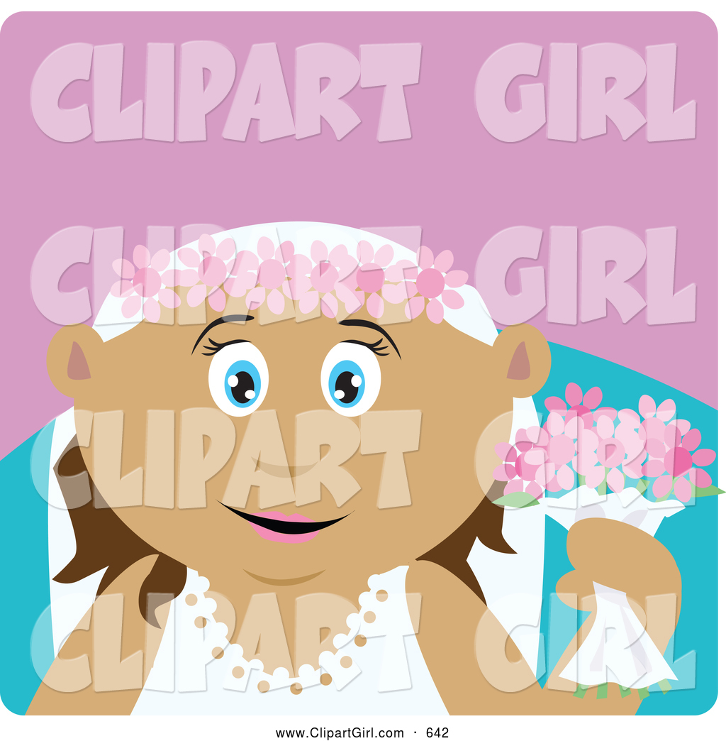 clipart girl holding flowers - photo #27