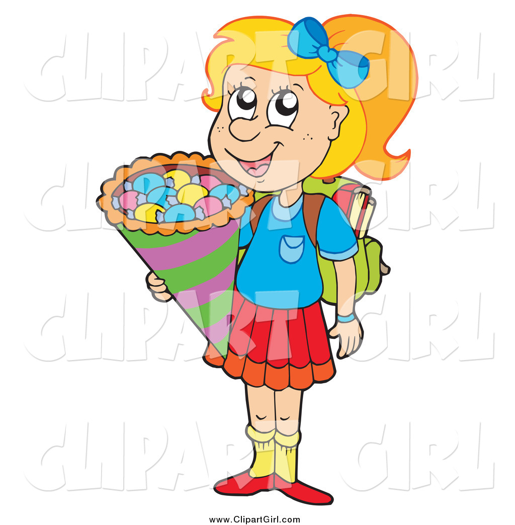 Blond girl clip art says reply