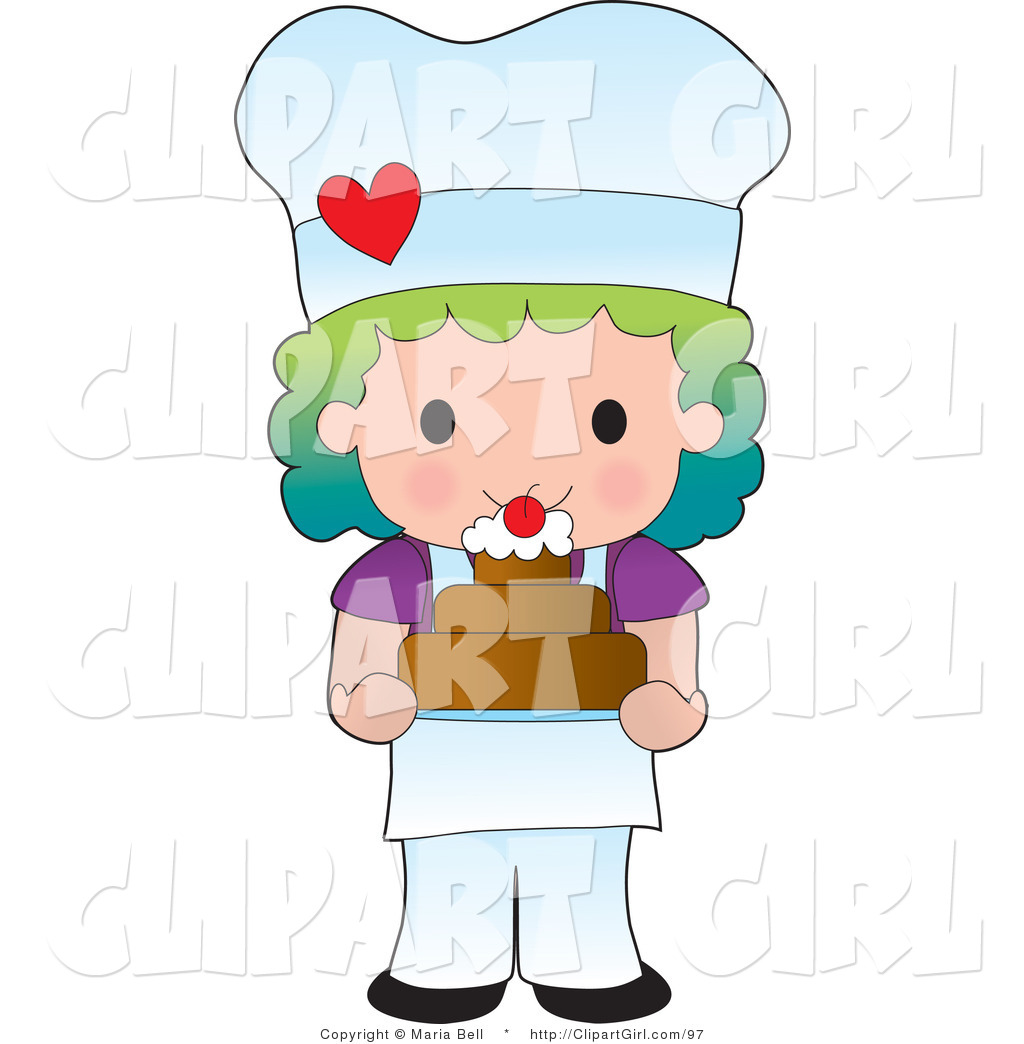 Little Girl Chef Clip Art