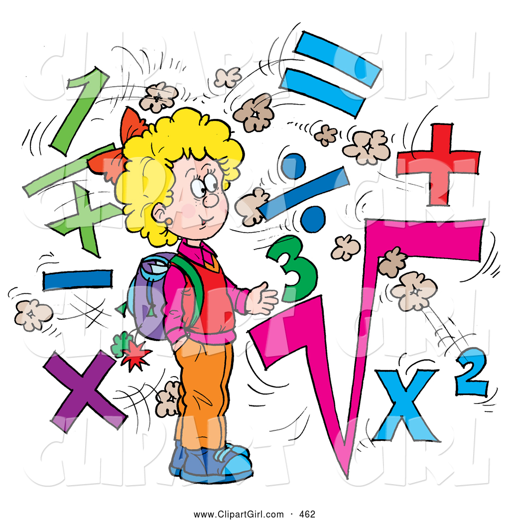 Royalty free stock girl designs of students smart smiling school girl surrounded by math symbols biocorpaavc Image collections