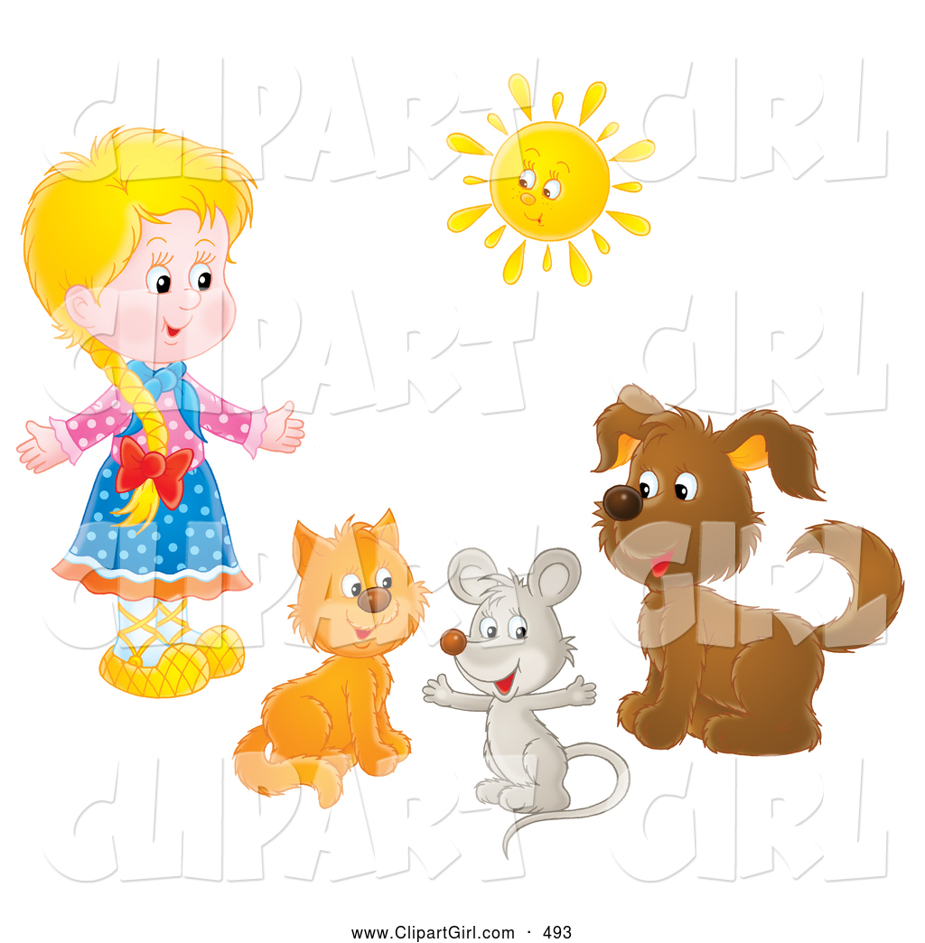 Cartoon dog stock photos images amp pictures shutterstock - Vector Cartoon Marriage Clipart Of A Sketched Pink Flower Girl Dress