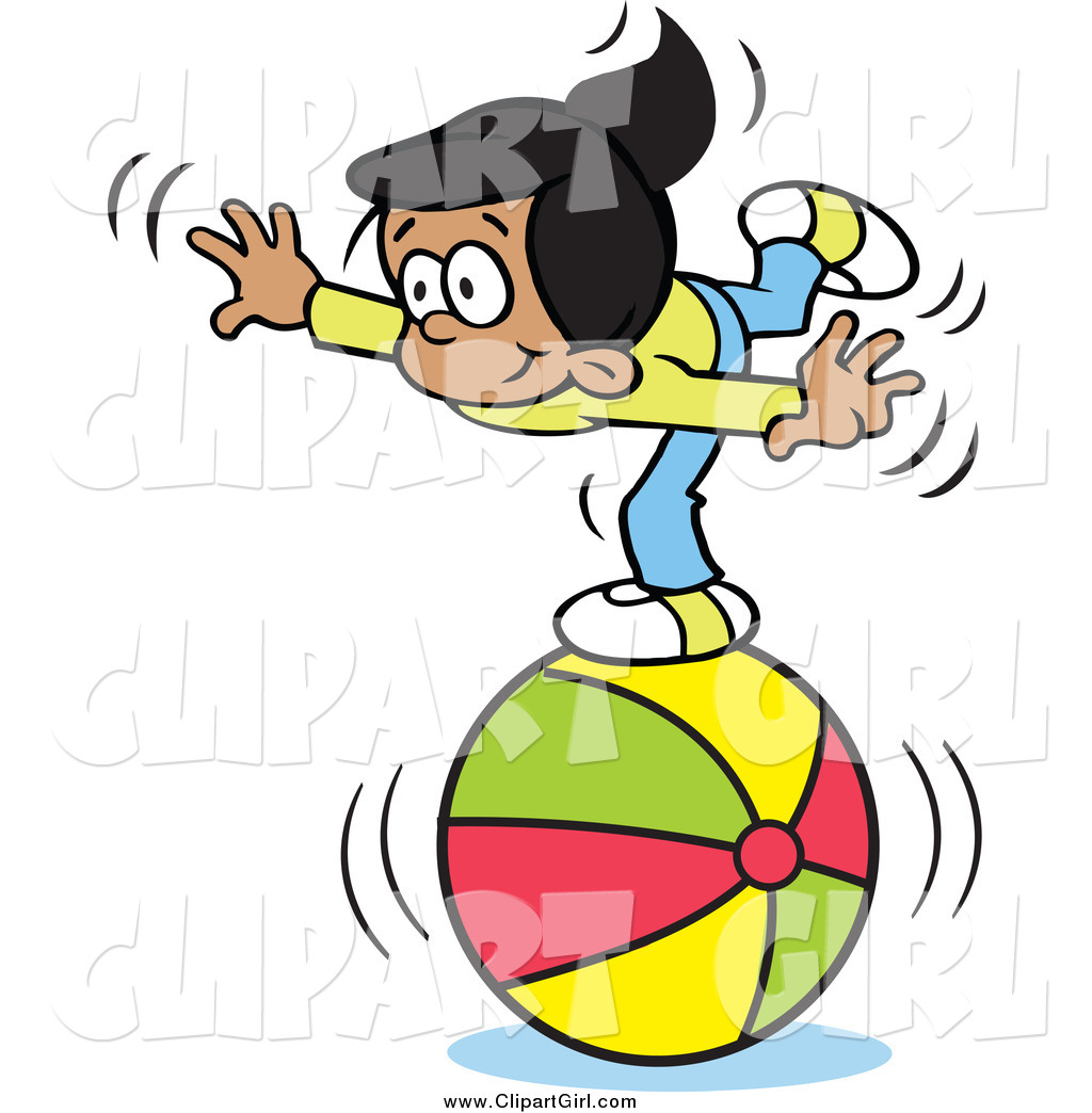 clip art of a talented hispanic girl balancing on a beach ball by rh clipartgirl com hispanic woman clipart hispanic family clipart