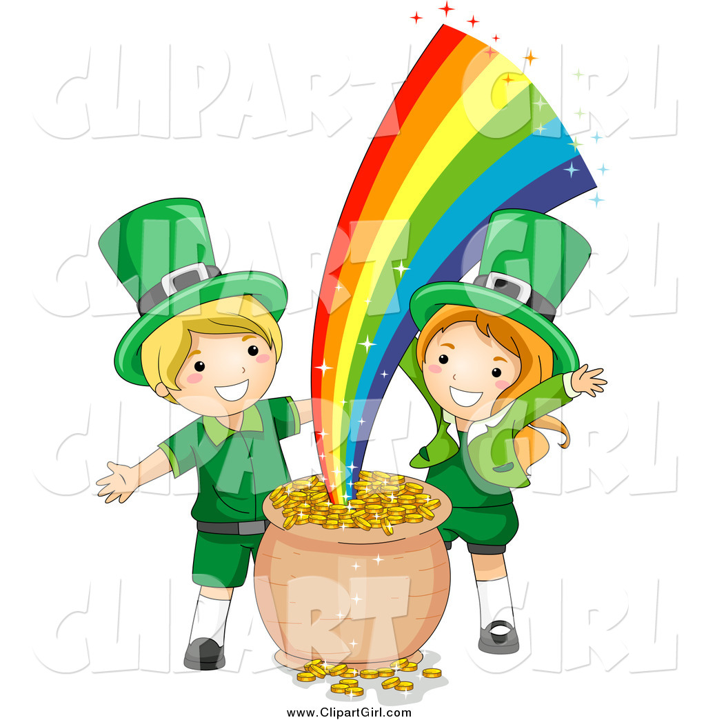 Uncategorized Leprechauns For Kids clip art of st patricks day leprechaun kids with gold at the end rainbow