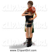 May 18th, 2015: Clip Art of a 3d Sad Teen Couple Hugging by Ralf61
