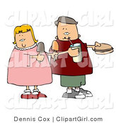 Clip Art of a Boy and Girl Eating Junk Food Together by Djart