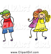 Clip Art of a Cool Boy Trying to Impress Girls by Prawny
