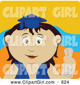 Clip Art of a Cute Mexican Graduating Girl Holding a Diploma by Dennis Holmes Designs