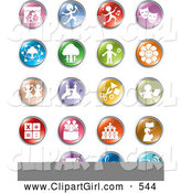 July 24th, 2013: Clip Art of a Group of Colorful Entertainment and Business Buttons by Alexia Lougiaki