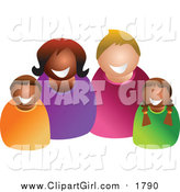 August 25th, 2017: Clip Art of a Happy Mixed Family by Prawny