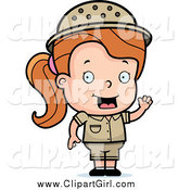 September 4th, 2014: Clip Art of a White Safari Girl with an Idea by Cory Thoman