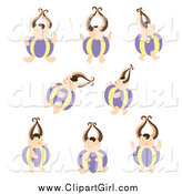 Clip Art of Round Bodied Kids by Cherie Reve