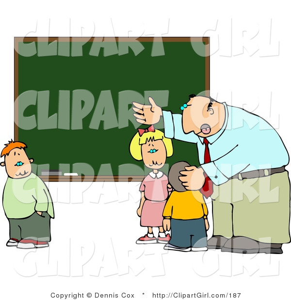Elementary Classroom Clipart ~ Clip art of an elementary male school teacher explaining