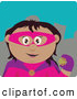 Clip Art of a Friendly Hispanic Super Hero Woman in Costume by Dennis Holmes Designs