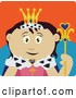 Clip Art of a Friendly Royal Mexican Queen Holding a Staff by Dennis Holmes Designs