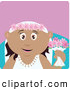 Clip Art of a Happy Hispanic Bride Woman Holding Flowers by Dennis Holmes Designs