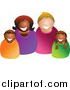 Clip Art of a Happy Mixed Family by Prawny